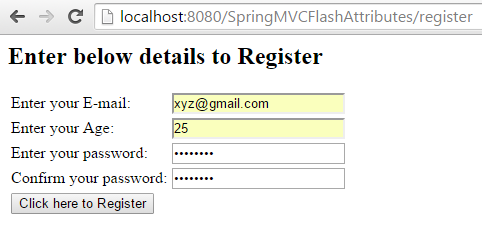 Spring MVC – Redirecting model attributes from one controller to