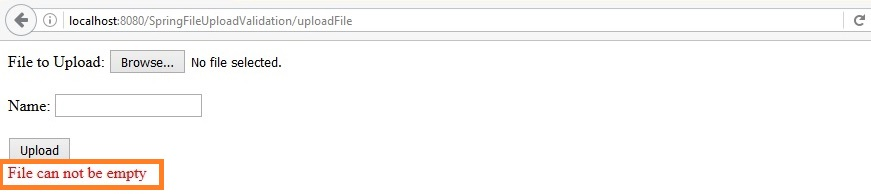 Spring MVC file upload with Validation | Javainsimpleway