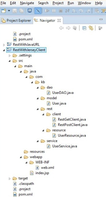 RestWithJerseyClient_project_structure