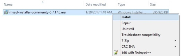 mysql_installer_install