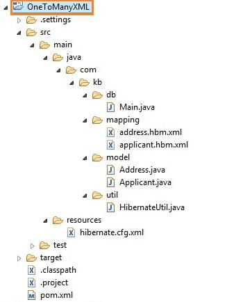 OneToManyXMLProjStructure
