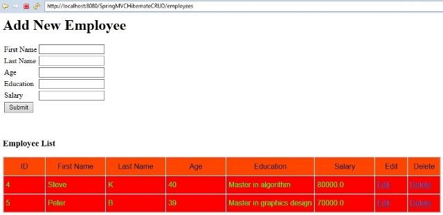 springmvc_hibernate_crud_delete_emp_data_output6