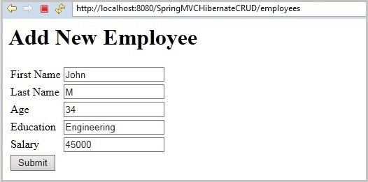 springmvc_hibernate_crud_fill_emp_data_output2